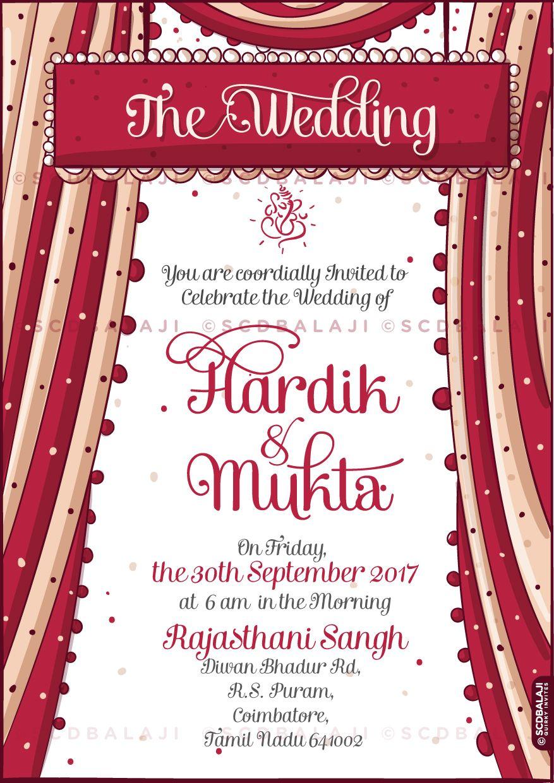 Print Ready Punjabi Wedding Invite Illustration and Design ...
