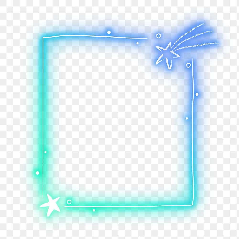 Neon Frame Png Planet Glowing Border Free Image By Rawpixel Com Maewh Frame Png Planets