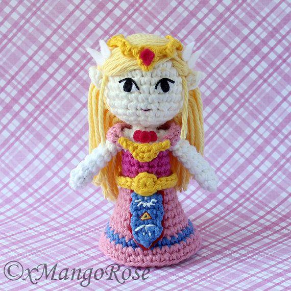 Toon Princess Zelda Amigurumi Doll Plush (Crochet Pattern Only, Instant Digital Download), from Legend of Zelda, Wind Waker, Spirit Tracks