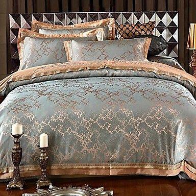 Regal Prune De Luxe Tissé Jacquard Design Bed-linen-Couette ensembles-Conception étonnante