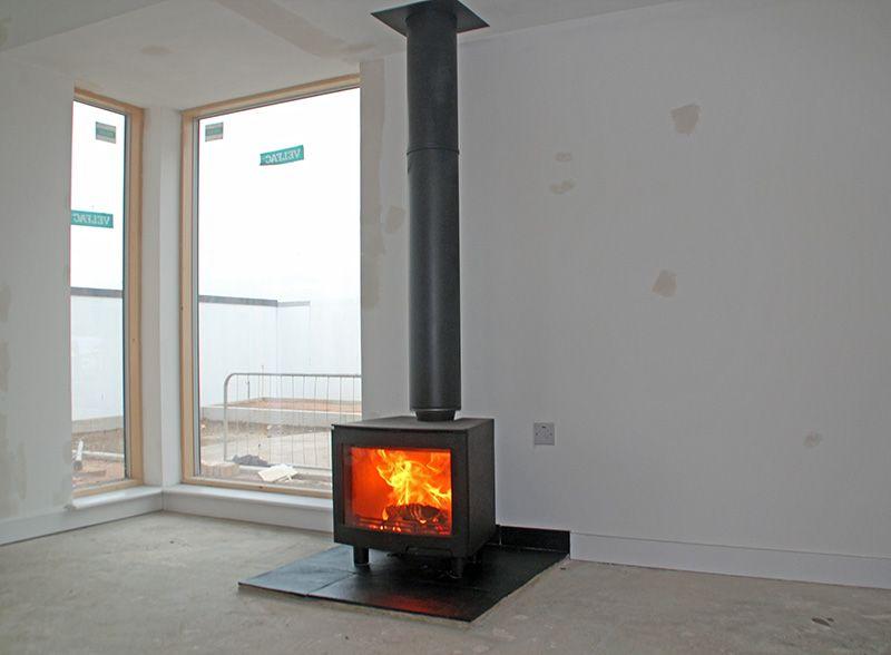 superb wood burner new build house 2017