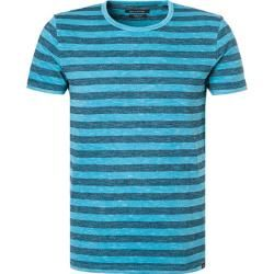 Photo of Marc O'Polo Men's T-Shirts, Shaped Fit, Cotton, midnight blue-azure striped Marc O'Polo