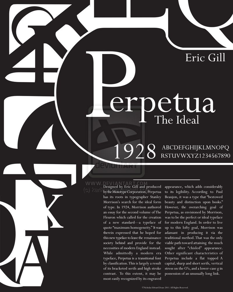 Layout Graphic Design Inspiration: Perpetua Typography Poster By Karikun.deviantart.com On
