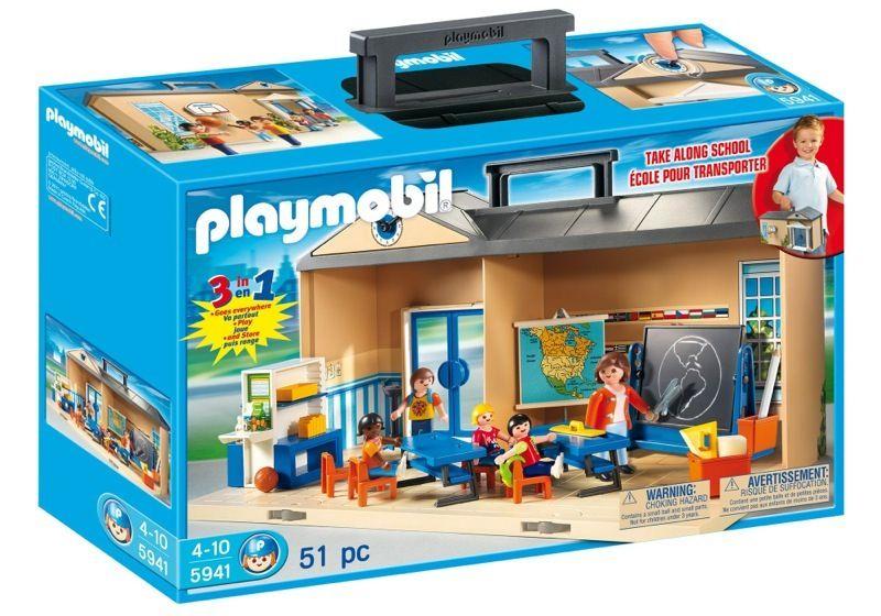 Playmobil 5941 Usa Take Along School Box Playset Playmobil Playmobil Toys