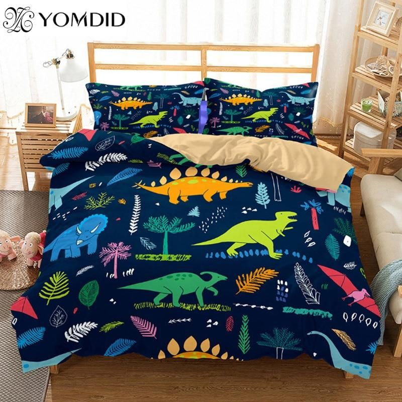 3D Duvet Cover set with Pillow Cases /& Printed Fitted Sheet Single Double King