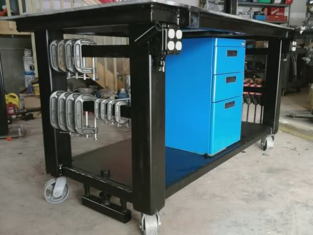 Welding Table Designs welding table vise and grinder stands im looking for ideas on how to use several What Do We Think About Putting Outlets Or Power Strips On The Welding Table Description