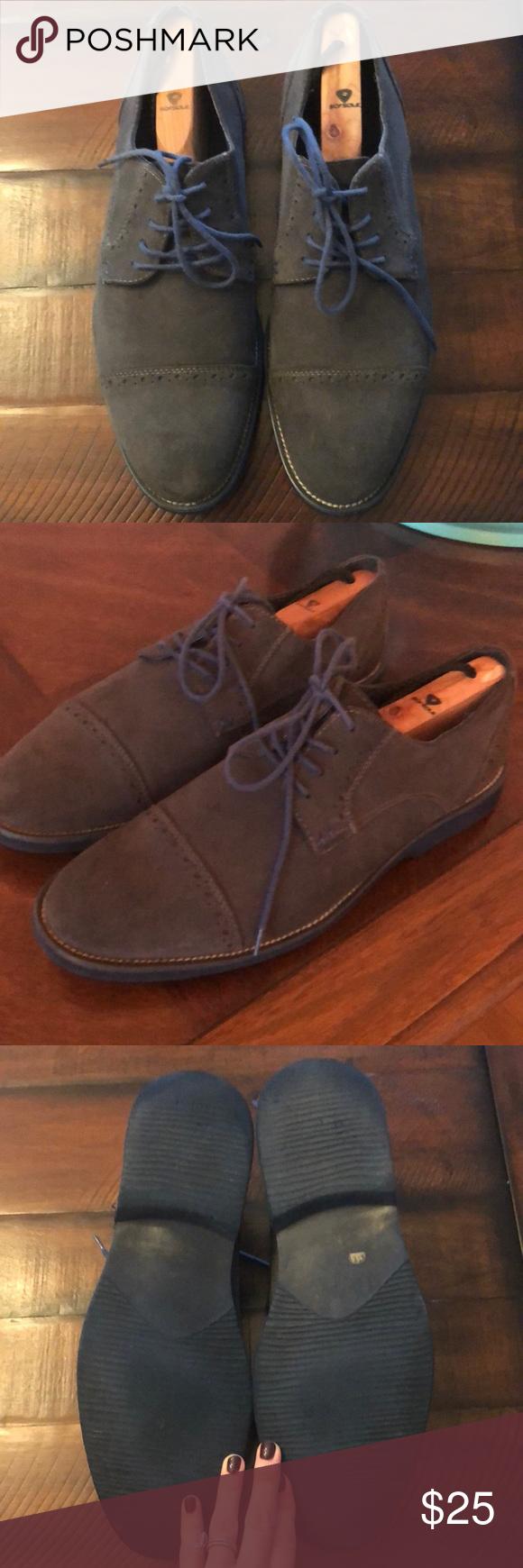 Blue Suede Shoes sz 11 by Joseph Abboud