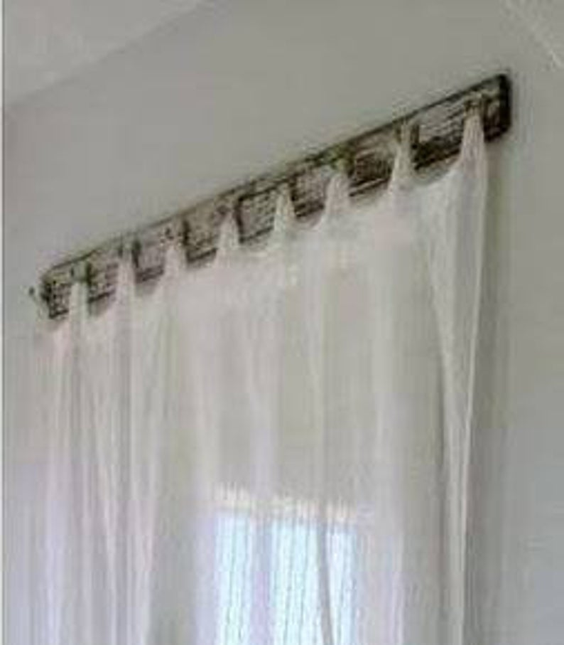 How To Hang Tab Top Curtains So They Look Like Back Tab Panels