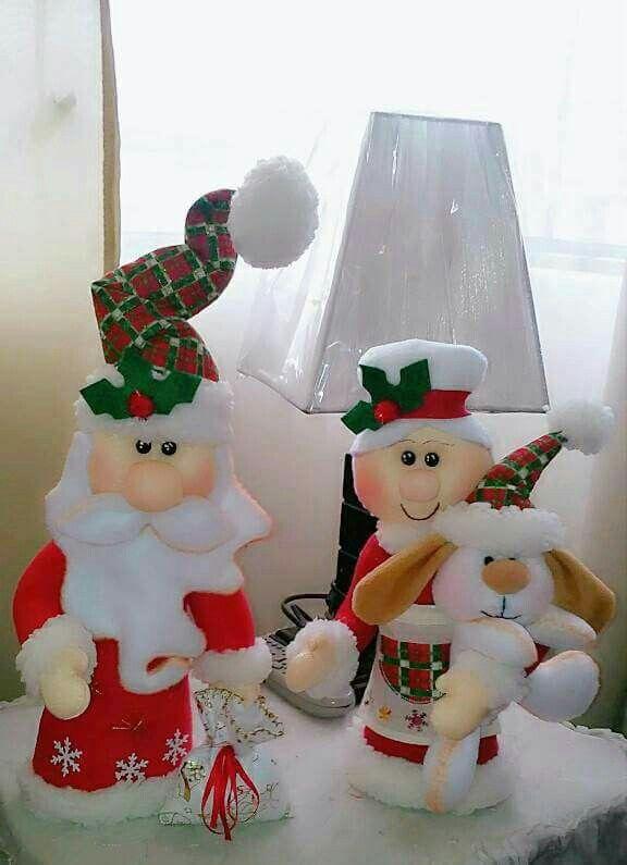 Pin de mirian reascos en noeles pinterest navidad - Adornos navidenos artesanales ...