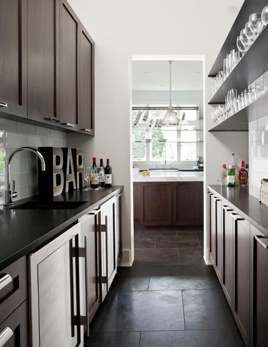 Best Black Galley Kitchen Chocolate Brown Kitchen Cab S 640 x 480
