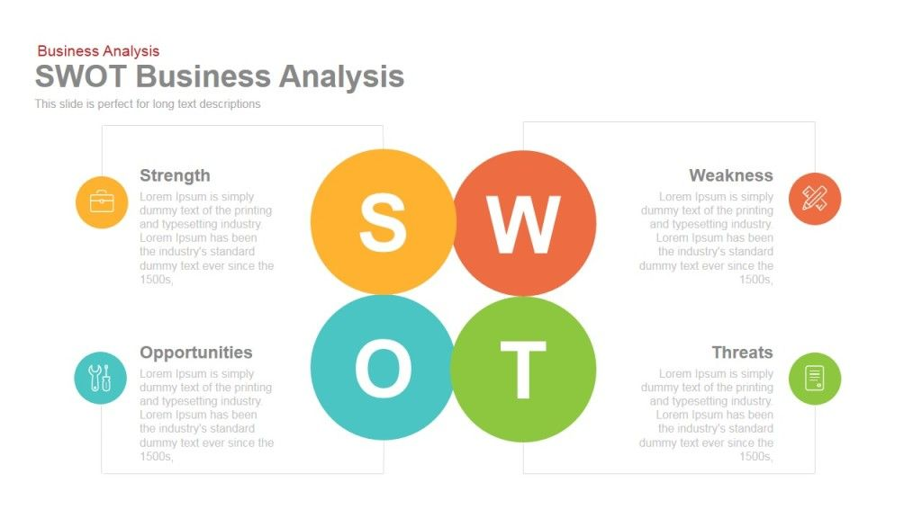 SWOT Business Analysis Powerpoint and Keynote template swot