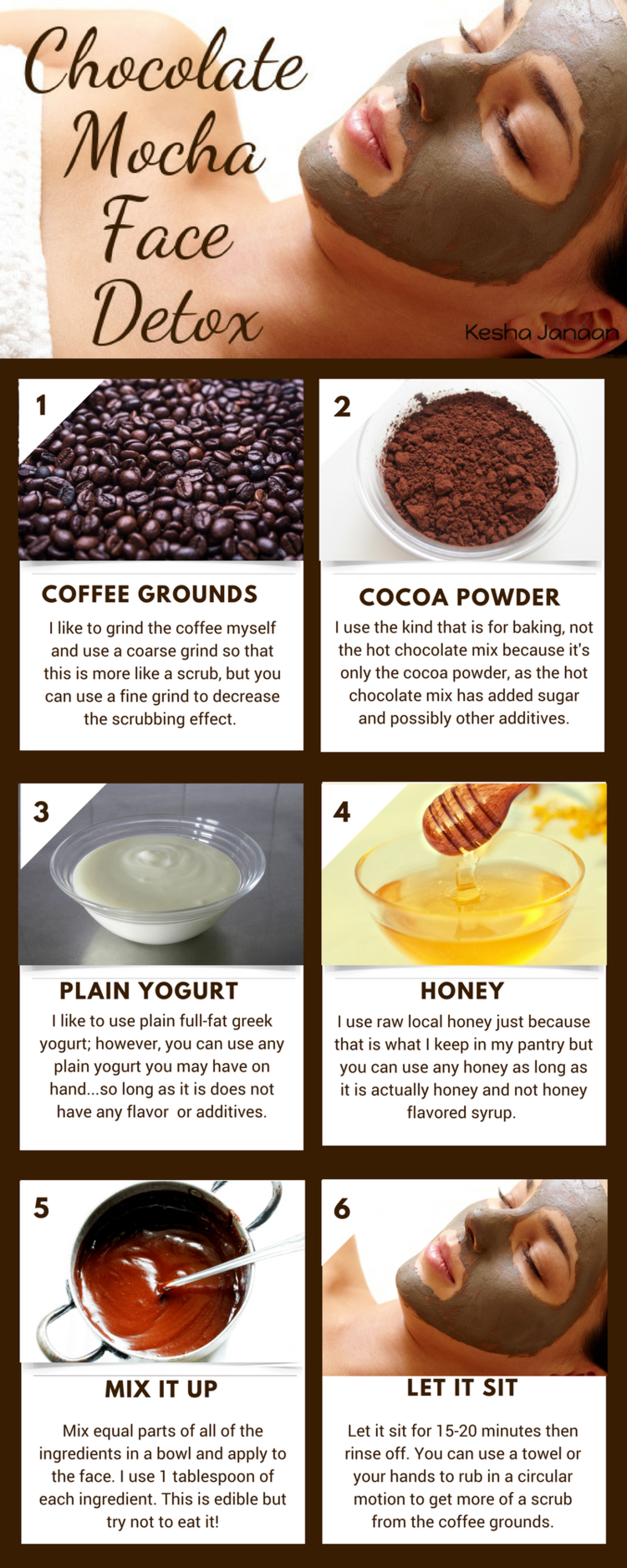 coffee ground face mask