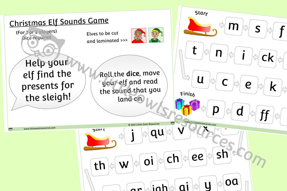Free Christmas Elf Letters And Sounds Game Printable Early