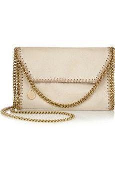 Stella McCartney The Falabella mini faux brushed-leather shoulder bag | NET-A-PORTER