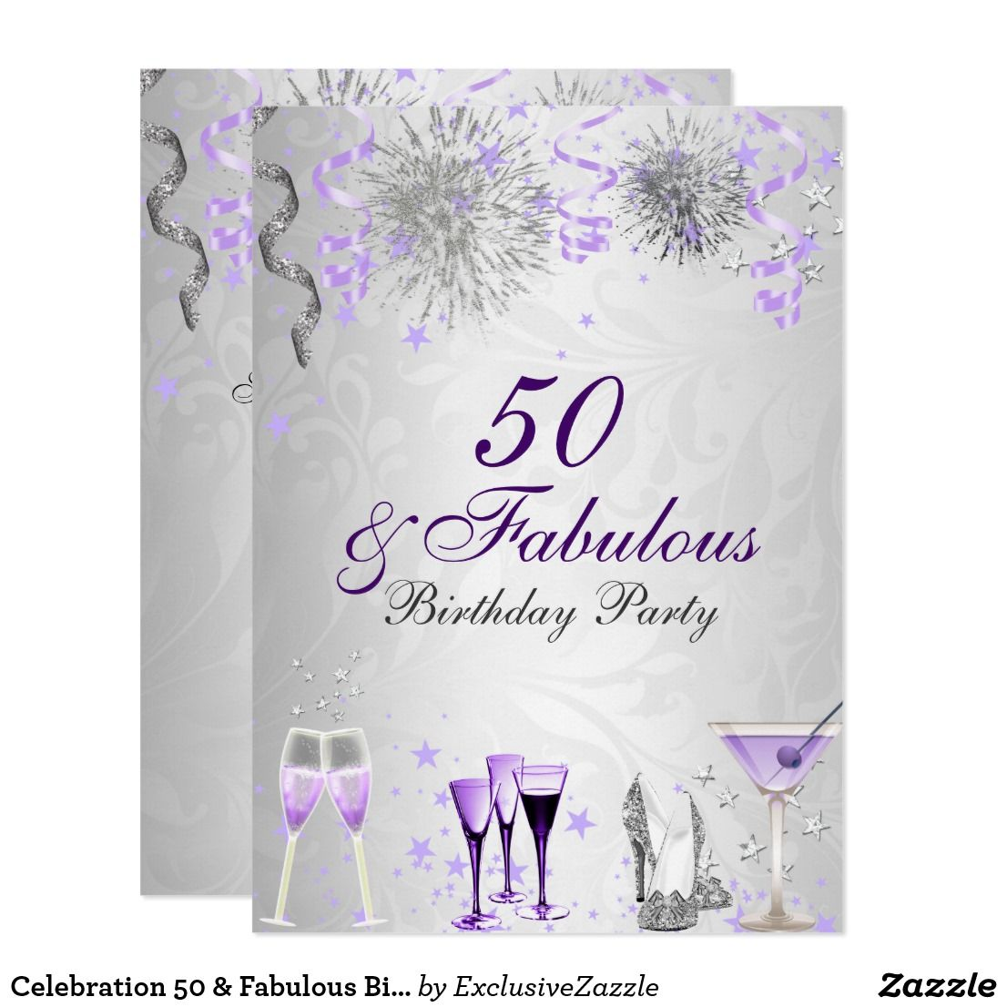 Celebration 50 & Fabulous Birthday Invitation | { Happy Birthday ...