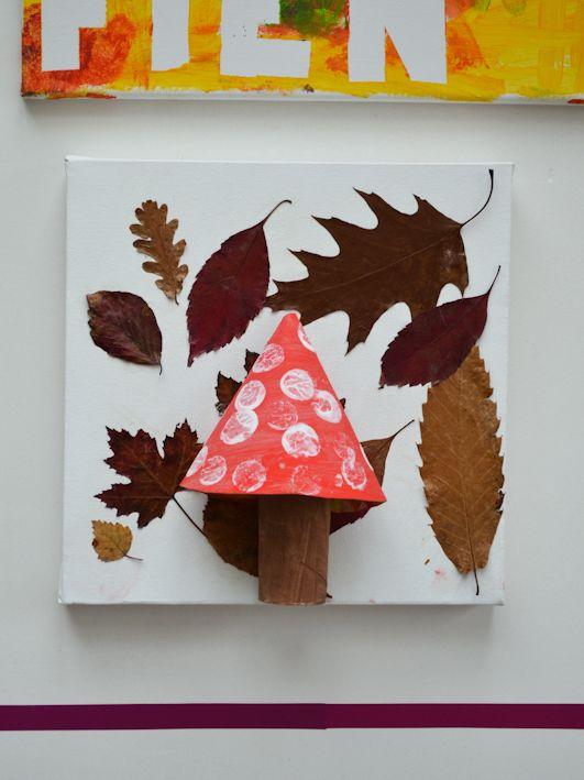 Quatang Gallery- Knutselen Kleuter Thema Herfst Gedroogde Blaadjes Paddestoel Schilderen Herfst Knutselen Herfst Knutselen Kinderen Herfst Activiteiten