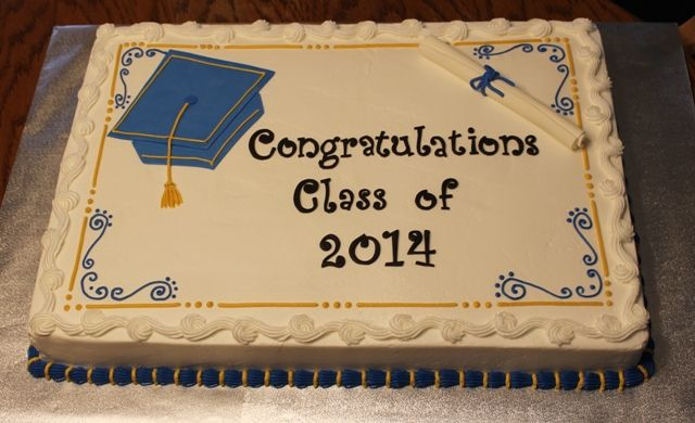 2014 Graduation Sheet Cake With Images Graduation Cakes