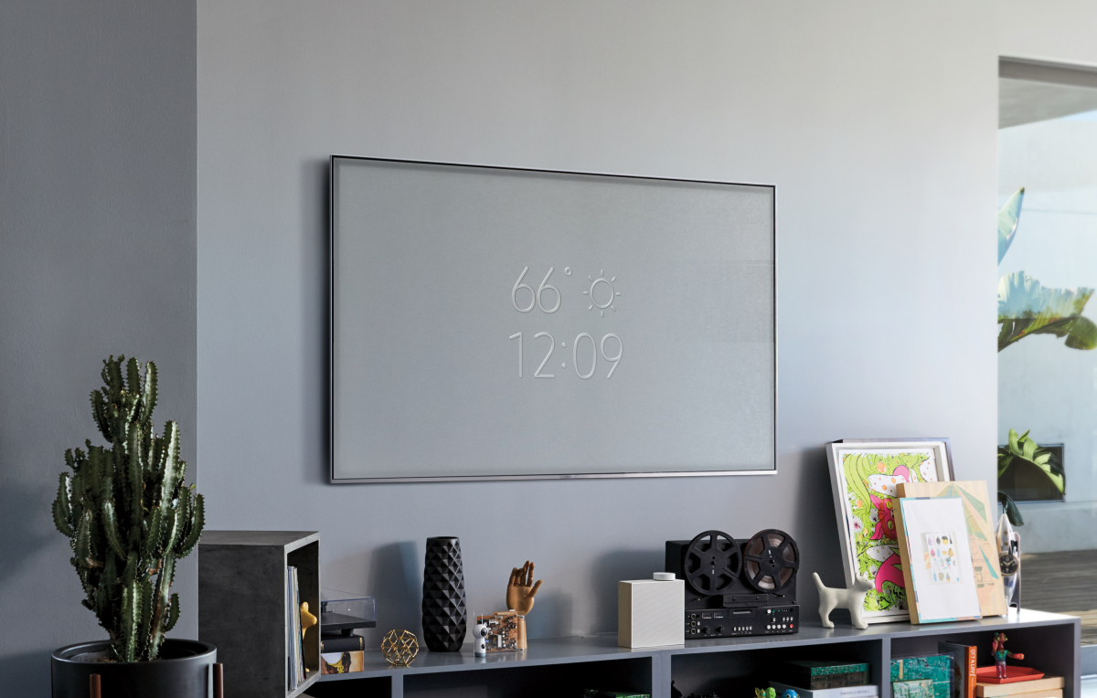 Samsung S New Tv Camouflages Into Your Wall Tvs Samsung Camouflage