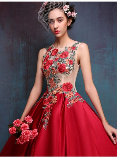 famous floral dresses | Modern Red Dresses – Red Chinese Dress ...