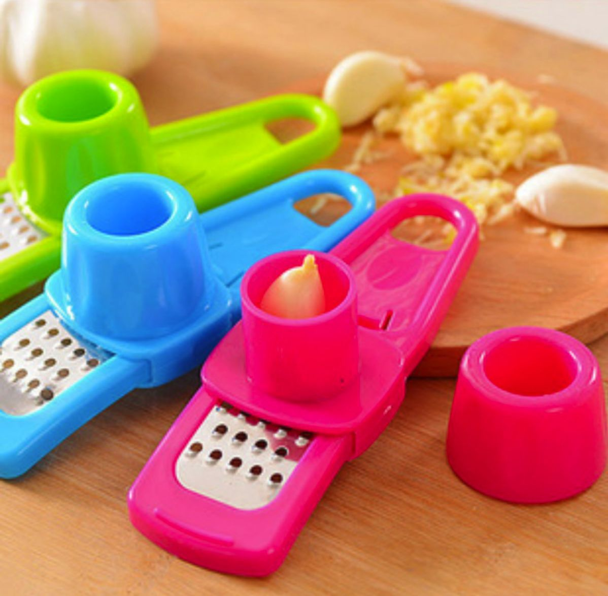Multifunctional Ginger Garlic Press Grinding Grater Planer Slicer Mini Cutter