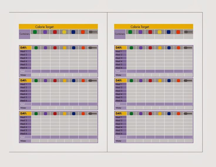 21 Day Fixed Meal Templates - - Yahoo Image Search Results 21 Day - weight loss chart template
