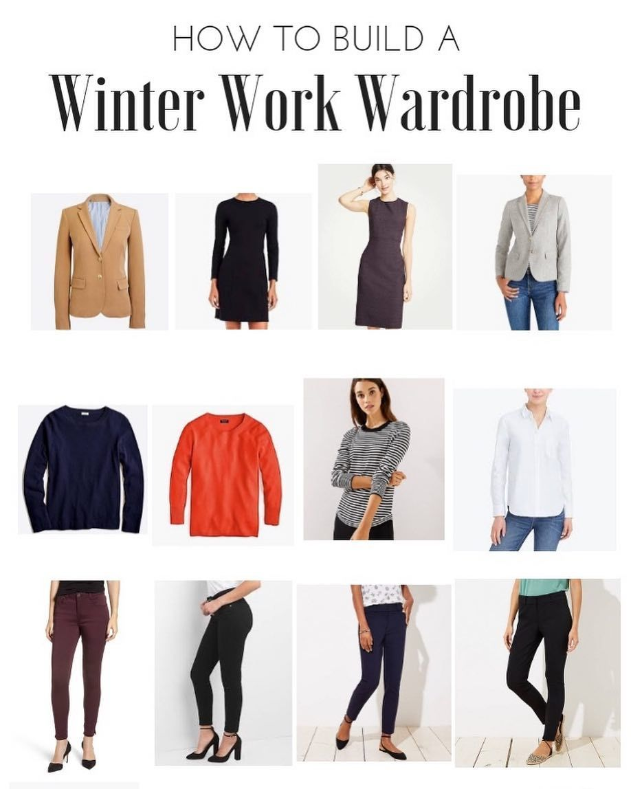 How to build a winter work wardrobe with 15 outfit options 3e901b5bb