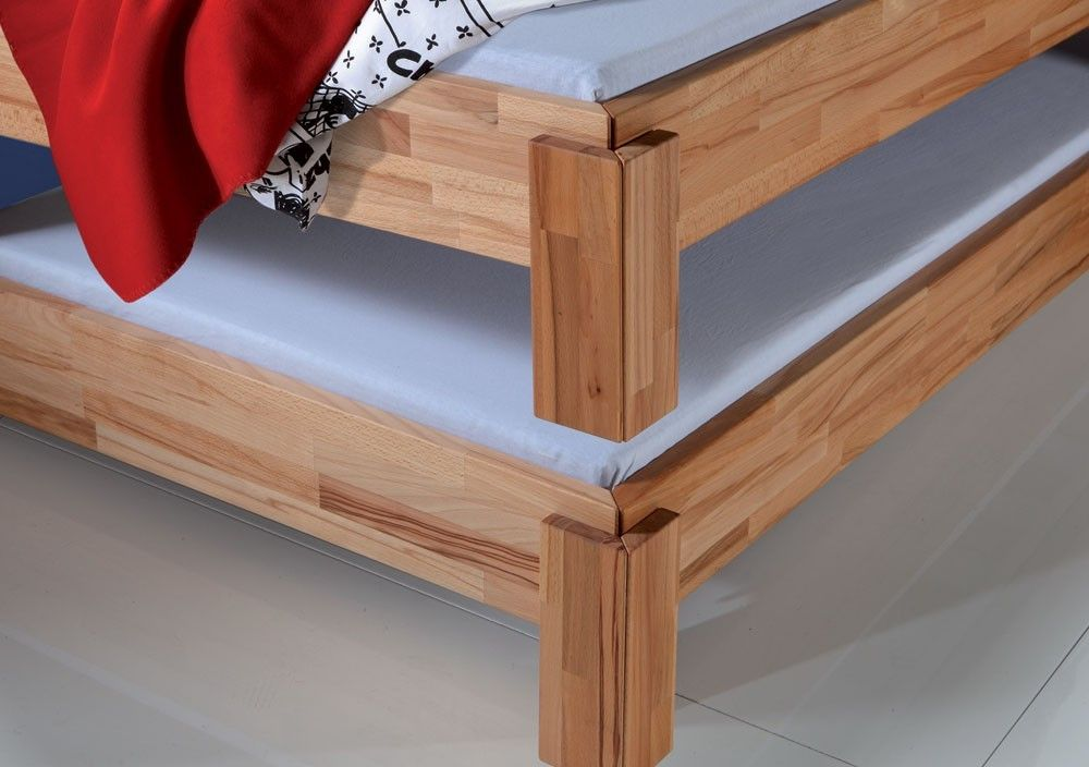 Stacked Solid Beech Guest Bed