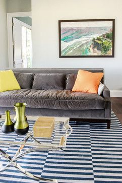 Makawao Remodel - beach-style - Living Room - Ashley Camper Photography