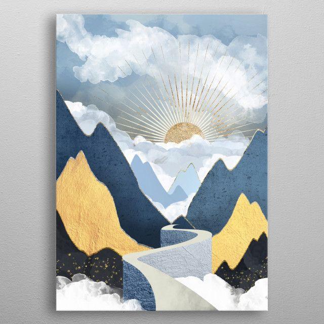 Bright Future II by SpaceFrog Designs | metal posters - Displate | Displate thumbnail