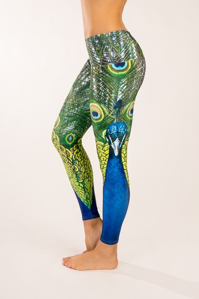 79563a86e14f82 Peacock Yoga Pants | Fitness Fashion | Yoga pants, Workout attire ...