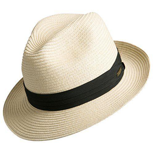 e6865c2c571 New Sedancasesa Women and Men s Straw Fedora Panama Beach Sun Hat Black  Ribbon Band.   14.99  topbrandsclothing offers on top store