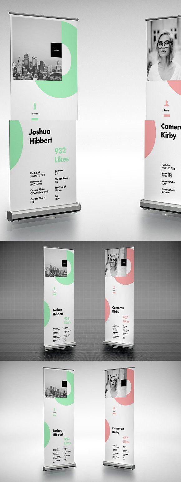 Roll Up Mockup 2 Web Design Mockup Rollup Banner Design Banner Design Inspiration