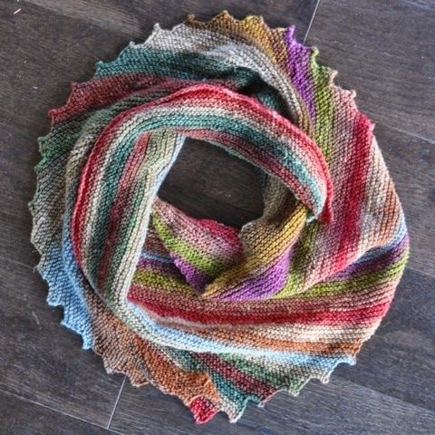 Hitchhiker Scarf With Noro Taiyo Single Ply Sock Yarn Knitting