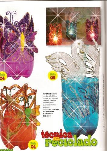 Faroles de botellas plasticas manualidades