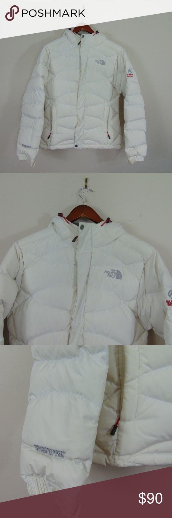 The North Face S White 700 Windstopper Summit Coat North Face Women North Face Jacket The North Face [ 1740 x 580 Pixel ]