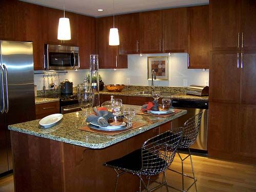 A kitchen Island/Prep table/bar seating in the kitchen Homes sweet