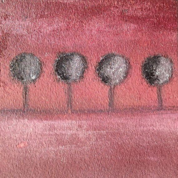 Black Trees  Painting  Art for home decor Gift  by LisbonStore, $30.00