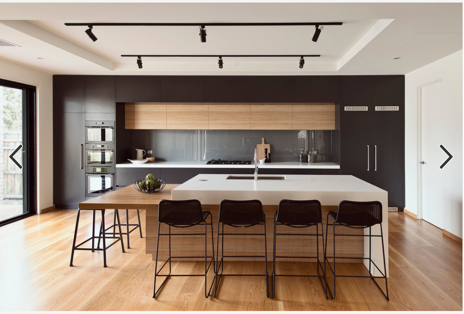 dual height kitchen island http://www.houzz.com.au/photos/19634883 ...