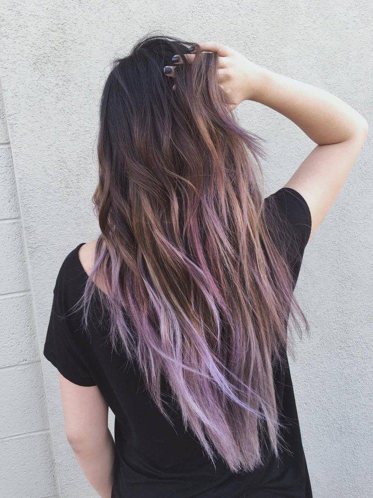 Hair by Sammi Situ , Arcadia, CA, United States. ash brown to lilac