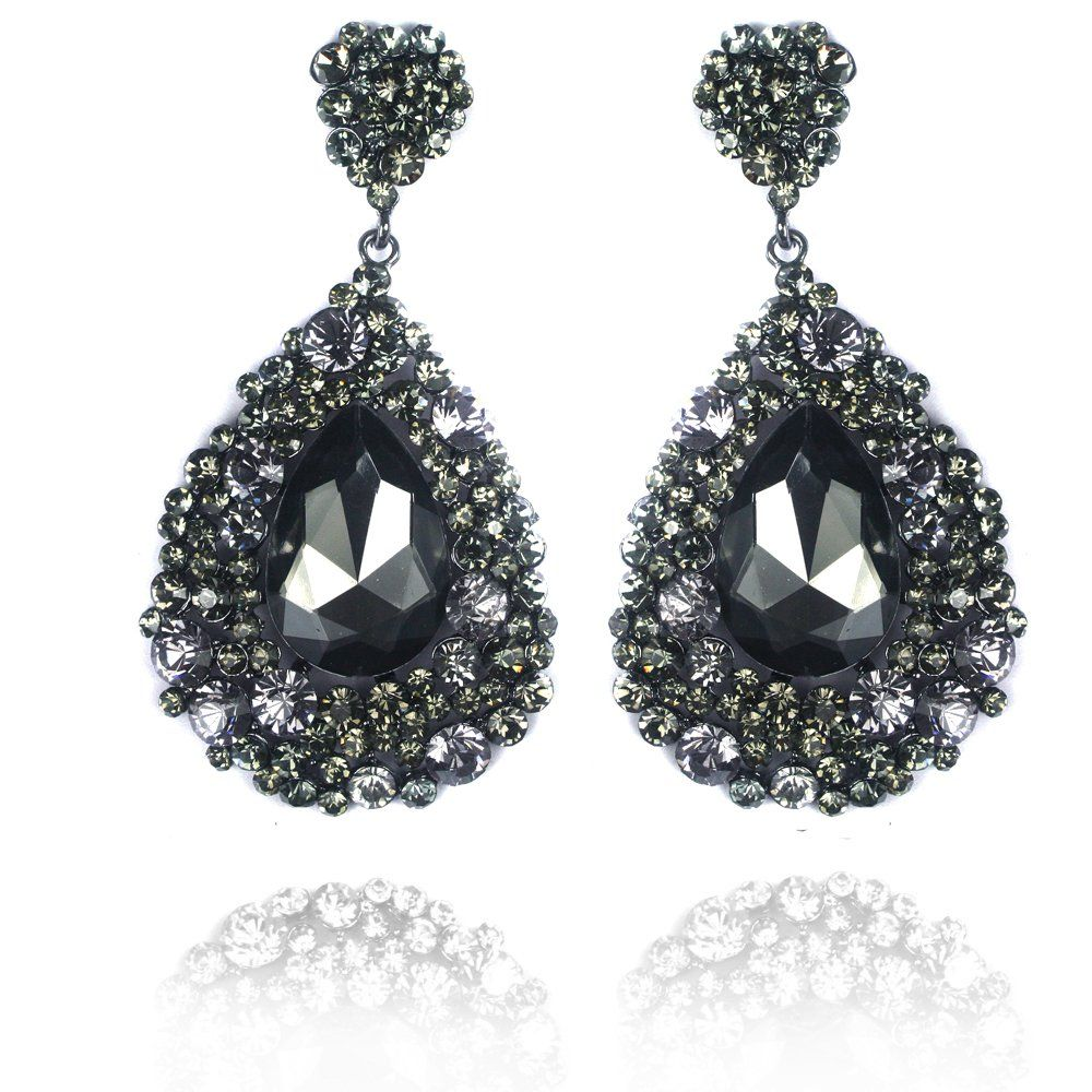 Black Diamond Earing #prom
