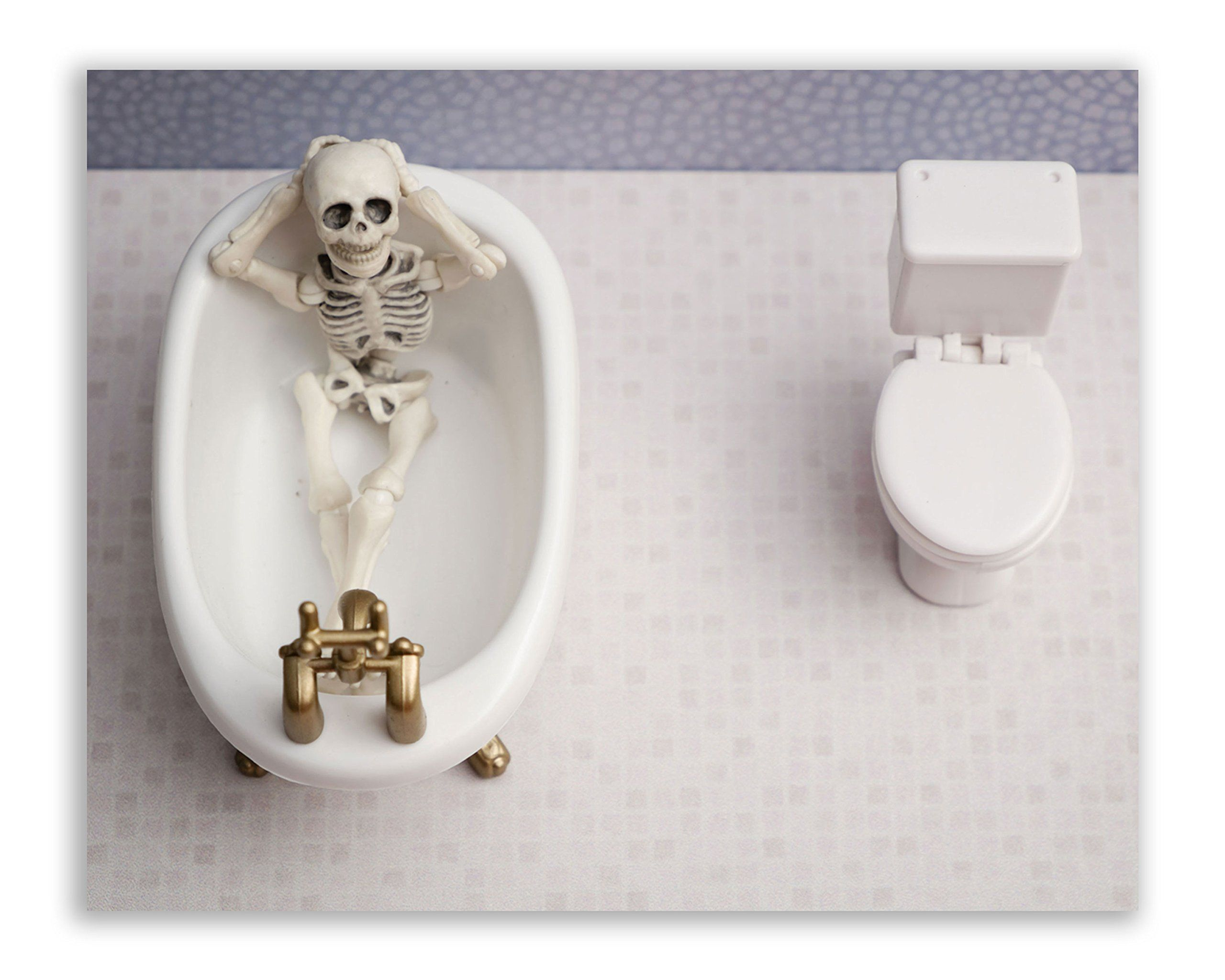 Skeleton Bathroom Prints Funny Hipster Skull And Bones Wall Art Decor Set Of 4 8 X 10 Photos Find Out More A Skull And Bones Hipster Funny Bathroom Decor