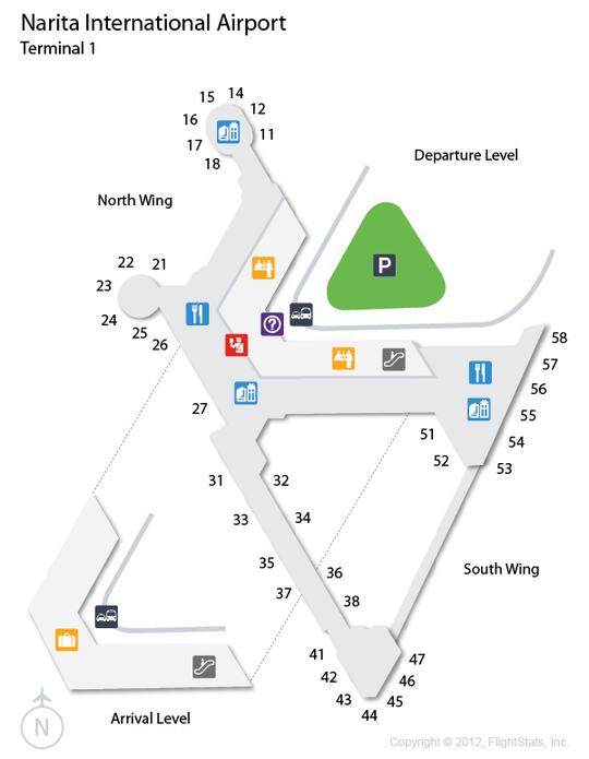 (NRT) Narita International Airport Terminal Map Airport
