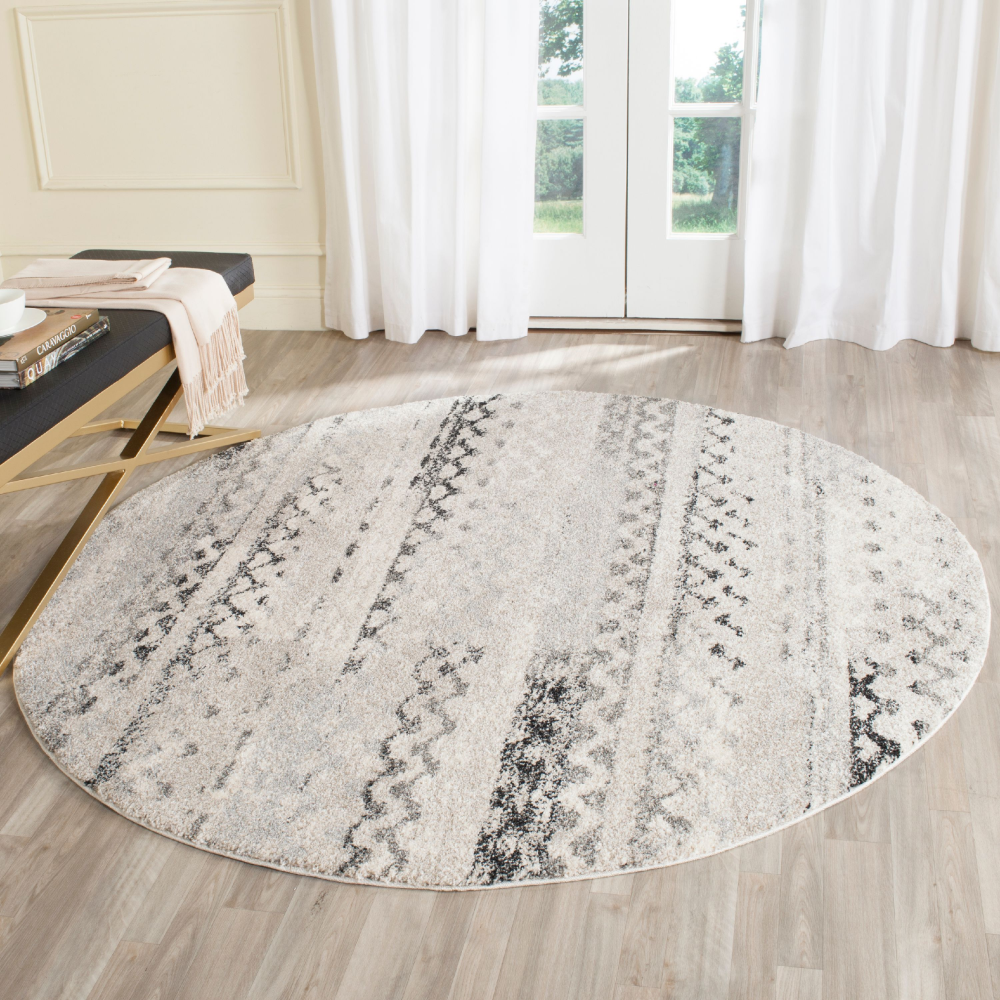 Free 2 Day Shipping Buy Safavieh Retro Coilean Abstract Area Rug Or Runner At Walmart Com In 2020 Retro Rugs Grey Rugs Patterned Carpet