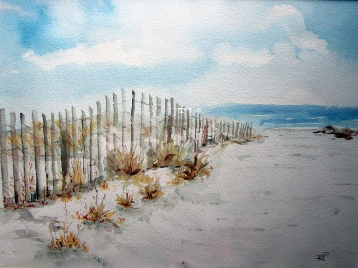 Watercolor Painting For Beginners Easy Google Search Beach