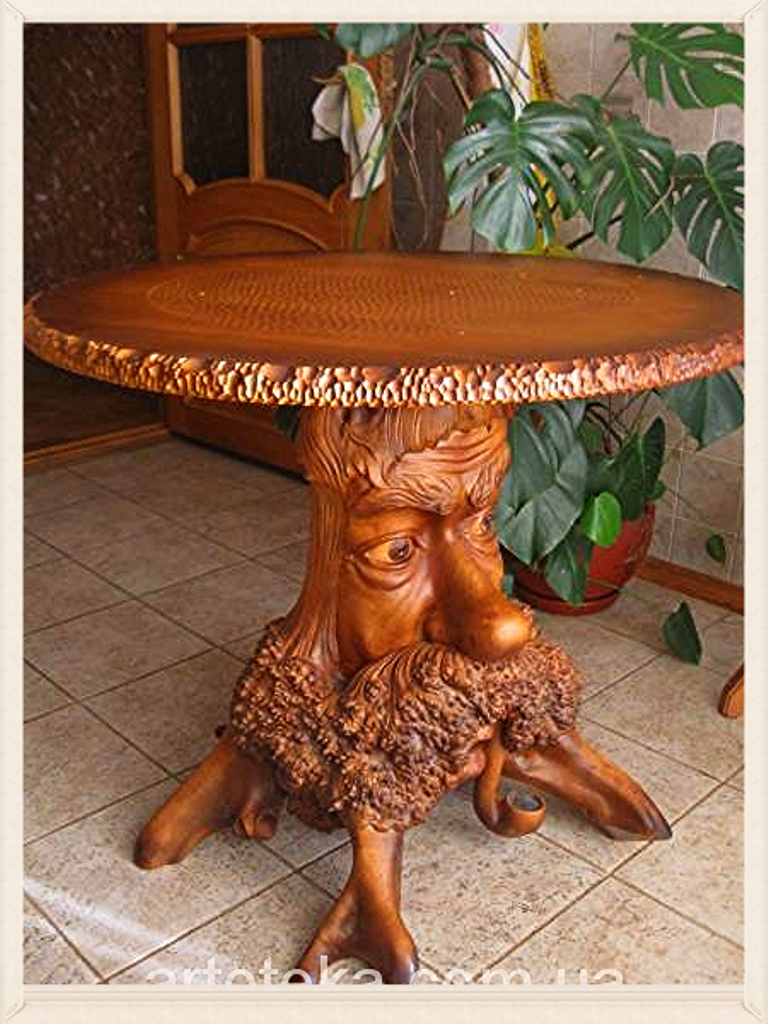 Stunning Carved Table    By Jurij Gusarchuk