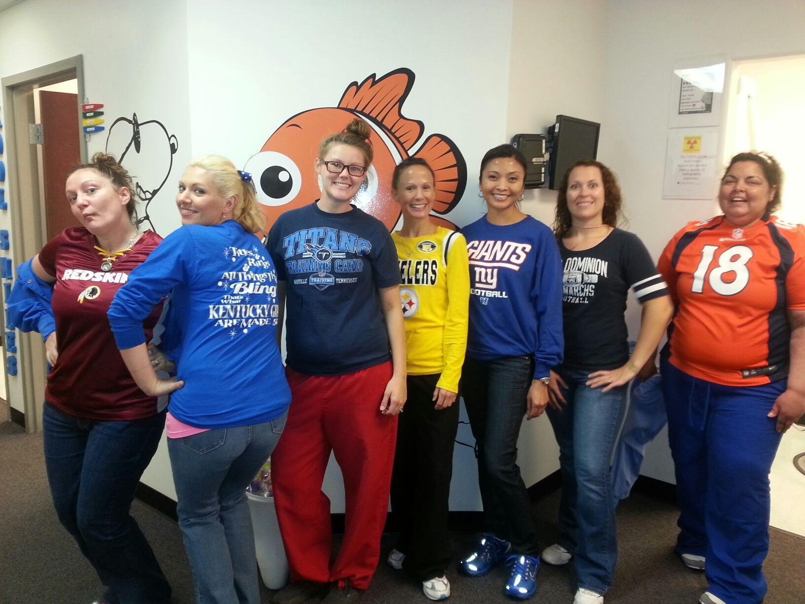 Our Spirited Va Beach Team On Favorite Jersey Day Who S Your Favorite Team Smileonshot Virginia Dentists Oralcare Fun Jersey Day Favorite Team Dentist