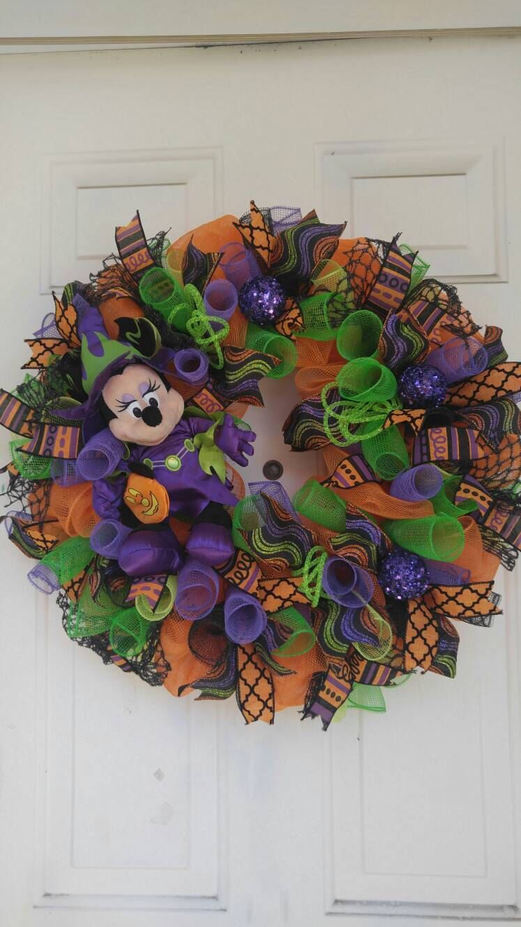 Minnie mouse Halloween wreath, Halloween wreath, Disney Halloween - Minnie Mouse Halloween Decorations