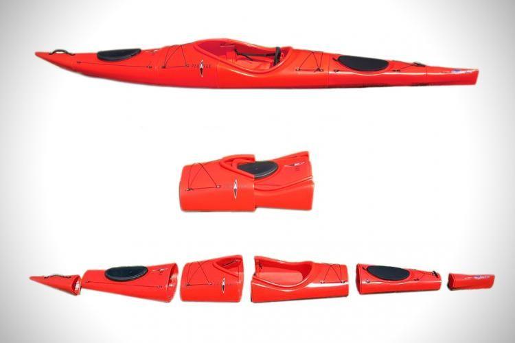 Photo of Pakayak Portable Kayak – Kayak collapses down to haul around like a backpack