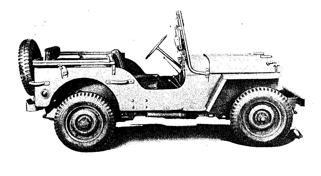 Willys Overland Motors Model Mb 1945 Right Side View Military