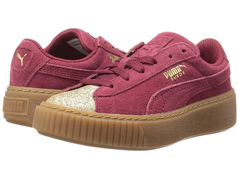 60fa49dff61 Puma Kids Suede Platform Glam (Little Kid Big Kid)
